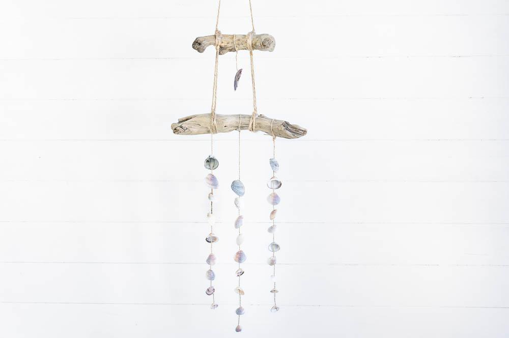 Wandbehang Mobile Treibholz Muscheln