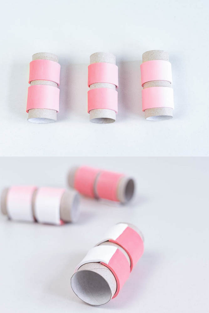 diy fimo serviettenringe farbverlauf