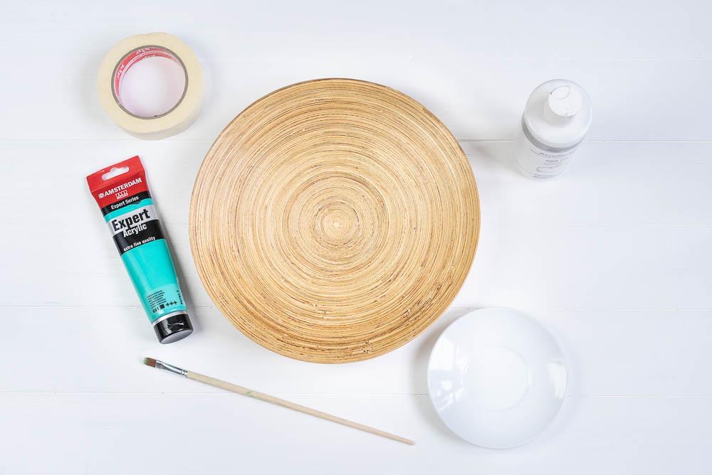 material für bambus schale bemalen