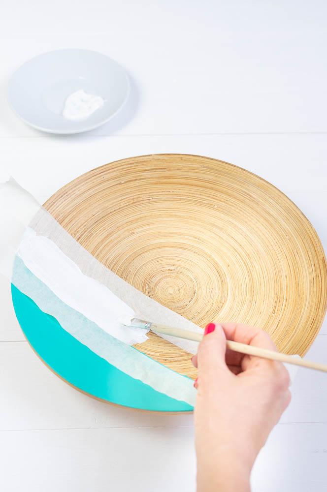 bambus schale mit streifen bemalen