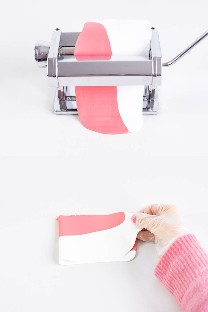 serviettenringe fimo farbverlauf