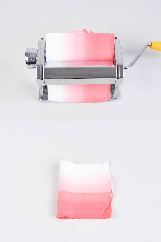 Farbverlauf mit fimo clay Maschine